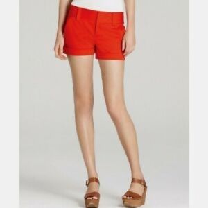 Vince Camuto | Red Cuffed Pocket Short Size 0